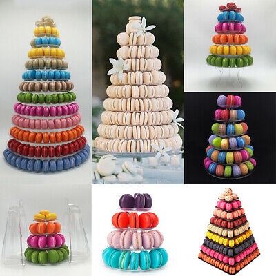 4/6/9/10/13 Tiers French Macaron Tower Display Stand Rack Birthday Wedding Party