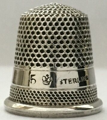 Near Mint - H.Muhr & Sons - Sterling 2 band Thimble - c1886-1897 - Size 5
