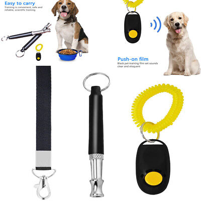 1Set x Dog Pet Click Clicker Training Obedience Agility Trainer Aid Wrist Strap