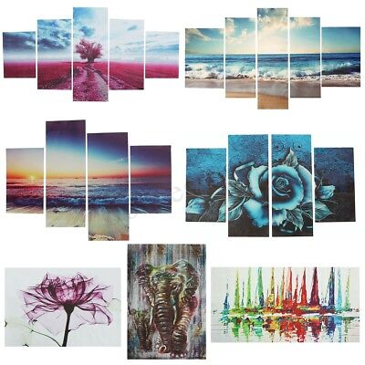1PC/4PCS/5PCS Modern Abstract Tree Wall Home Decor Art Painting Canvas No Framed