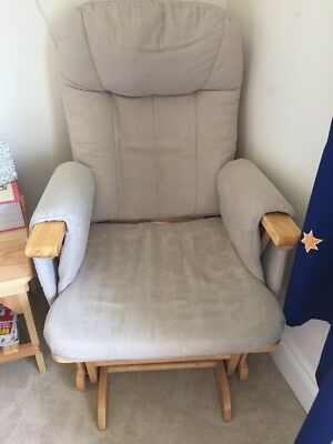 Gliding Nursing Chair And Footstool