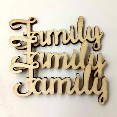 10pcs Family Letter Wooden Words Room Decoration Wall Hanging Crafts Laser Cut
