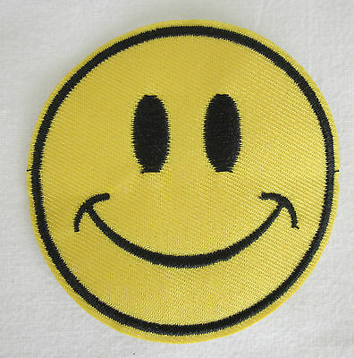 Smiley Face Embroidered Patch - Acid House Hippie LSD MDMA Ecstasy Drug Rave