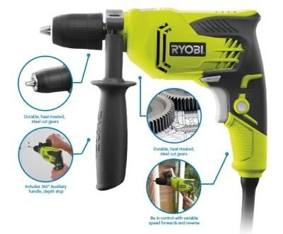 Ryobi Percussion Hammer Drill RPD500-G Compact 500W Corded Brand New Sealed Box