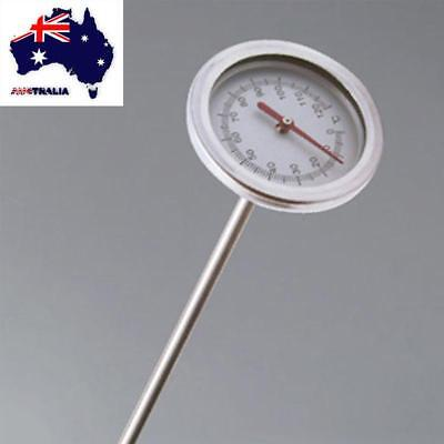 AU Stainless Steel Compost Soil Thermometer 0℃-120℃ Measuring Probe Detector