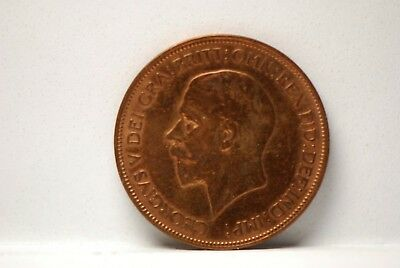 Great Britain, 1928 Penny, Very Fine, cleaned, No Reserve,                 mab61
