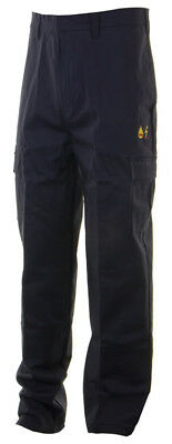 Click Fire Flame Retardant Anti Static Navy Blue Work Safety Trousers Pants FR