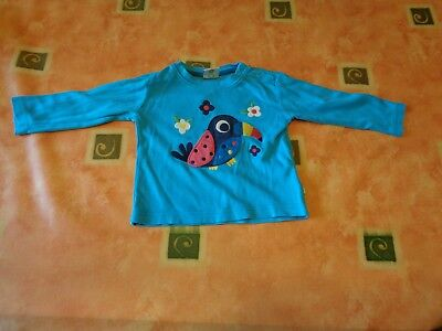 Girls Frugi Long Sleeved Top Size 6-12 months