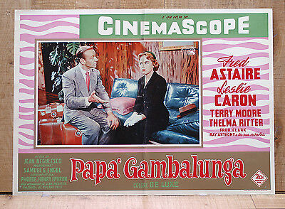 PAPà GAMBALUNGA fotobusta poster Fred Astaire Leslie Caron Daddy Long Legs BD22