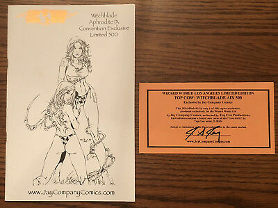 Witchblade #18 B&w Ebas Aix Convention Exclusive Ltd 500 Jay Company Top Cow