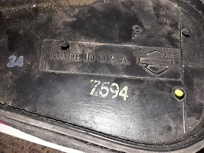 Harley Softail Leather Toolbox Side Pouch Bag Right Side