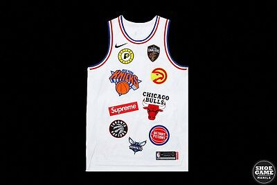 SUPREME x NIKE x NBA Teams Jersey White size L   authentic   brand new   9af3ca988