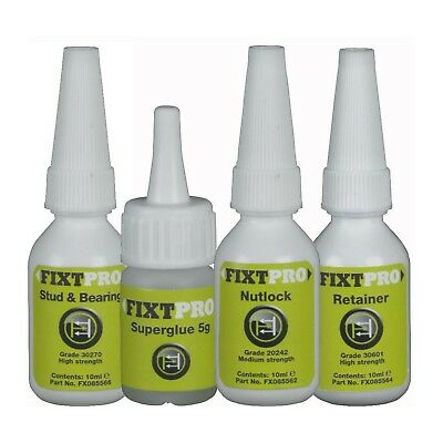 FIXT Set Of 4 Fixt Assorted Anaerobic Adhesives 10Ml
