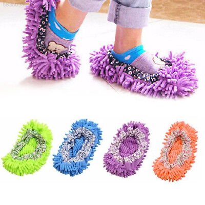 B5E6 Dust Cleaner Slippers Floor Sweeper Slipper Lazy Soft Shoes Duster Cloth