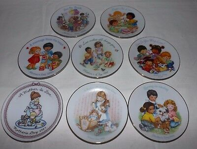 """(Set of 8) AVON MOTHER'S DAY 5"""" PLATES for 1987 to 1994"""