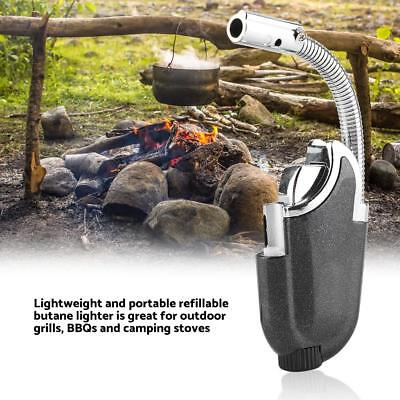Adjustable Nozzles Torch Fuel Flame Windproof Triple Butane BBQ Lighter 3 Colors