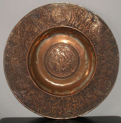 Silvered Copper 16th Cent Nuremberg Charger by Nicolaus Horchaimer Dated 1567