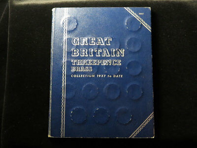 Whitman Folder : GB Brass Threepence Collection 1937 to DATE (1967) complete