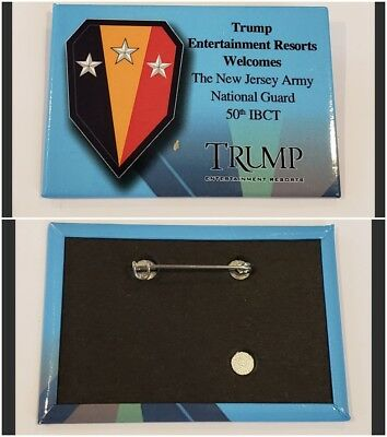 New Jersey Army National Guard 50 Ibct From Trump Plaza Resorts Button Very Rare
