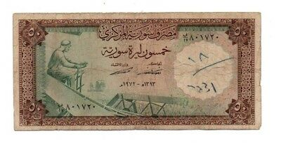 Syria Banknote 50 Pounds 1973 Used Condition