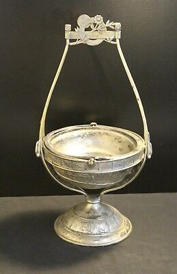 Vintage Reed & Barton 1035 Engraved Silver Plate Butter/Cheese Keeper