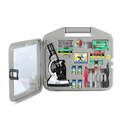 DQQ Microscope for Kids Microscopes Students with Case and Slides 50X 100X 200X