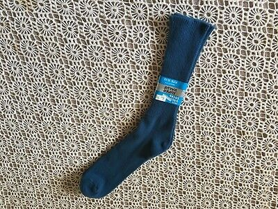 Nwt Mens Vintage Kmart Orlon Acrylic Bay Blue Socks 10-13 Us Made Free Shipping!