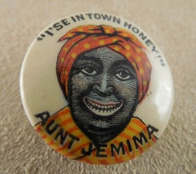 Early Aunt Jemima Button - #579L