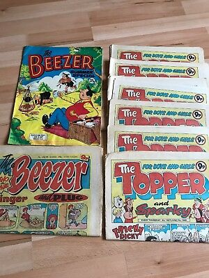 Vintage Comics The Topper/The Beezer (1980). Bundle.