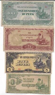 Rare Old Japanese WWII 1943 Japan War Vintage Dollar Note WW2 Collection Big Lot