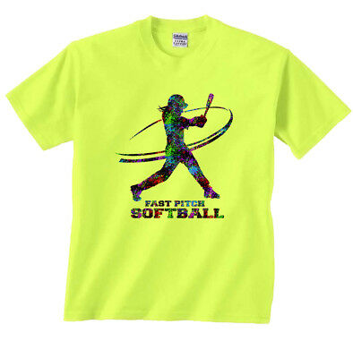 Batting Fast Pitch Softball T-Shirt
