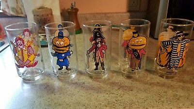 Lot of (5) Vintage McDonald's Collector Series Glasses