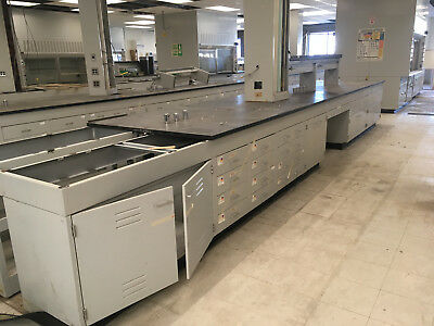 "30"" High ""Low Height"" Seated Laboratory Casework Benches sold in 16' Lots"