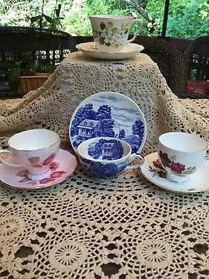 Vintage Tea Cups And Saucers Lot Of 4 Sets
