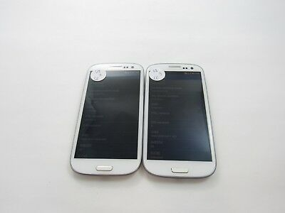 Lot of 2 Samsung Galaxy S3 I535 Verizon Check IMEI Good Condition 4-164
