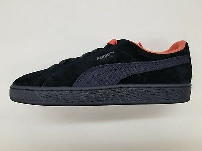 outlet store 4dae2 5d88d PUMA SUEDE CLASSIC Tonal Black Fire Red Mens Size Retro Sneakers 367424-02