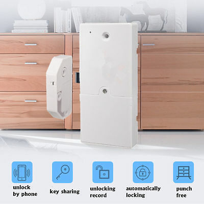NEW Bluetooth Smart Digital Hidden Cabinet Drawer Lock Home Phone Safe Security