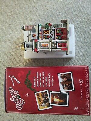 """Dept. 56 A Christmas Story  """"The Fire House"""" Lighted Village Building"""