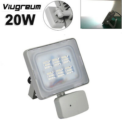 20W Microwave PIR Motion Sensor LED Security Flood Light Cool White Lamp AC110V