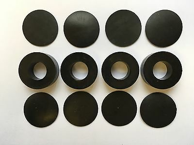 New! Srm Tech Sorbothane Isolation Rings - Light Duty 30 Duro - 4 Pack