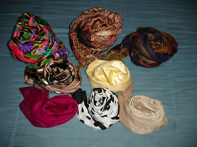 Assorted Lot 8  Multi Color  Scarves,Scarfs Assorted Print Medium Long