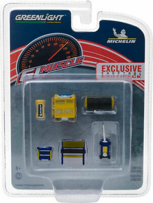 Greenlight 1/64 GL Muscle Shop MICHELIN Tool Set -  HOBBY EXCLUSIVE - 13161
