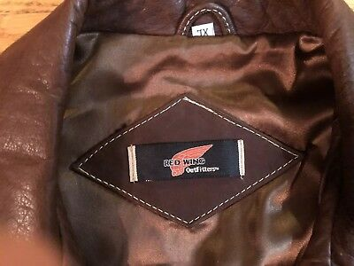 Eric Clapton Vintage Red Wing  Leather Jacket