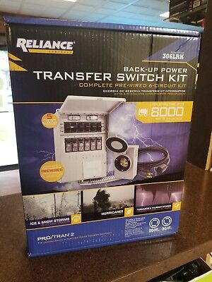 Reliance Back-Up Power 6-Circuit Complete Transfer Switch Kit (Model 306LRK)