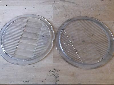 Antique Glass Headlights for Mazda No. 1110 Tilt Ray Headlamp Guide SET OF 2
