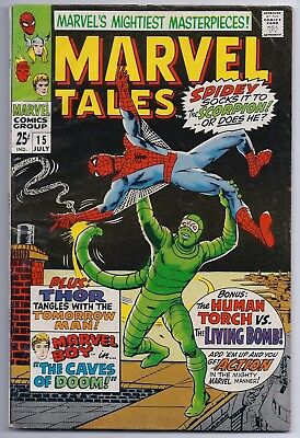 Marvel Tales 15 F+ Fine+ 6.5 Silver Age Comic Spider-Man Human Torch Thor