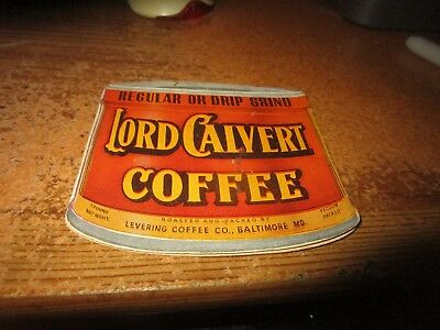 Antique C. 1900 Lord Calvert Coffee Baltimore Maryland Sewing Kit Ad Piece