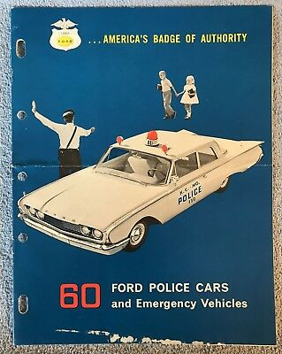 1960 Ford Police Cars and Emergency Vehicles Brochure 60