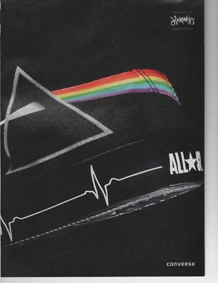 CONVERSE ALL STARS SHOES 2 PAGE PRINT AD Pink Floyd ART DESIGN ON SHOES FRAME IT