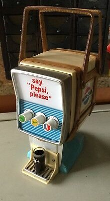 Rare Vintage Pepsi Cola Soda Fountain Dispenser Machine Transistor Radio